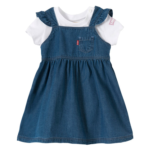 Levi's - Baby Girls T-Shirt and Jean Dress Gift Set