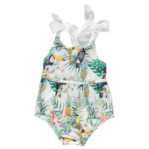 DOT - Concha Baby Girls Flamingo Print Swimsuit-Swimsuit-Sweet Peas Kidswear