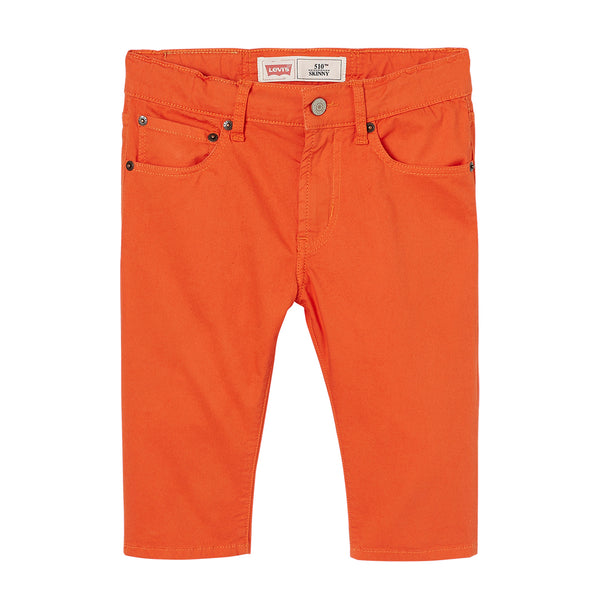 Levi's - Boys Orange 510 Skinny Fit Bermuda Shorts-Shorts-Sweet Peas Kidswear