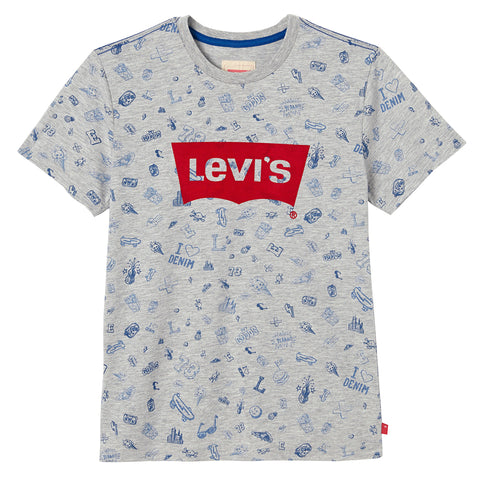 Levi's - Boys All Over Print Levi's T-Shirt-T-Shirt-Sweet Peas Kidswear