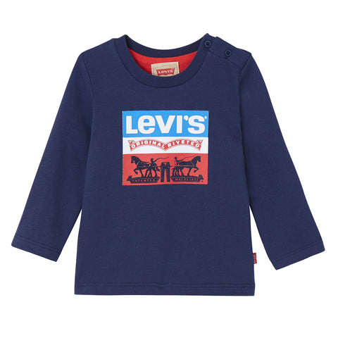 Levi's - Blue Long Sleeves T-shirt-T-Shirt-Sweet Peas Kidswear