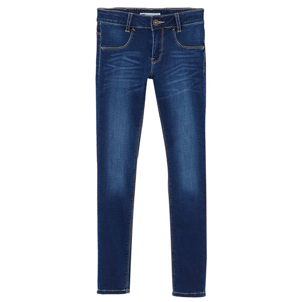 Levi's - Girls Blue Denim '710' Super Skinny Jeans-Jeans-Sweet Peas Kidswear