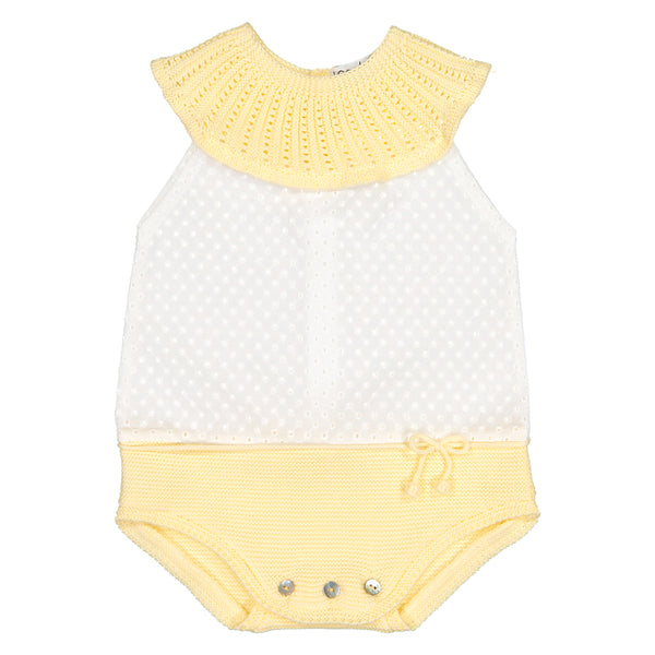 Mebi - Baby Girls Knitted and Cotton Shortie-Shortie-Sweet Peas Kidswear