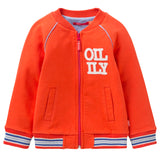 Oilily - Boys Orange Hudson Cotton Zip-Up-Jumper-Sweet Peas Kidswear