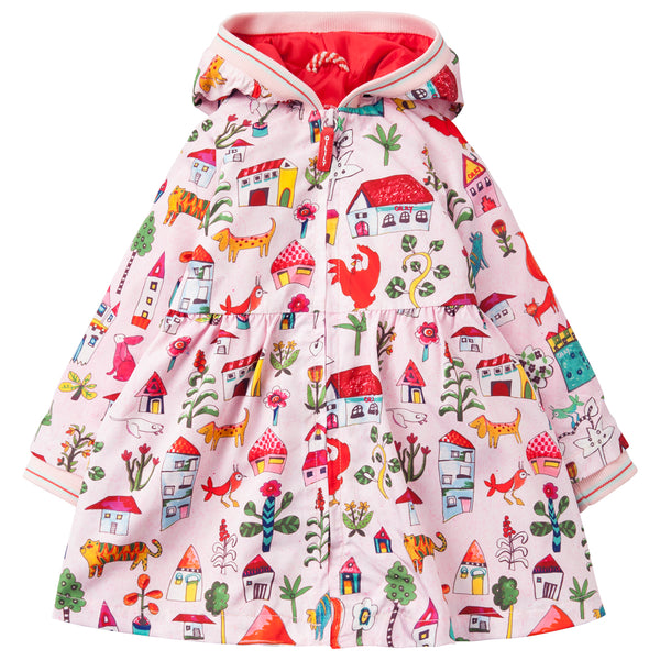 Oilily - Girls 'Coconutty' Coat-Coat-Sweet Peas Kidswear