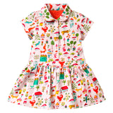 Oilily - Girls Twiny Short Sleeve Jersey Dress-Dress-Sweet Peas Kidswear