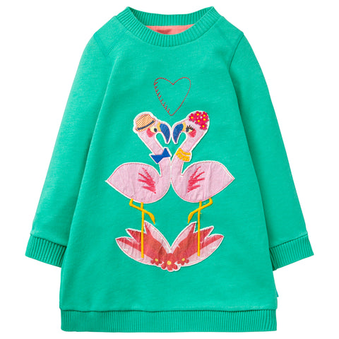 Oilily - Girls Huppel Long Sleeved Jumper Dress-Dress-Sweet Peas Kidswear