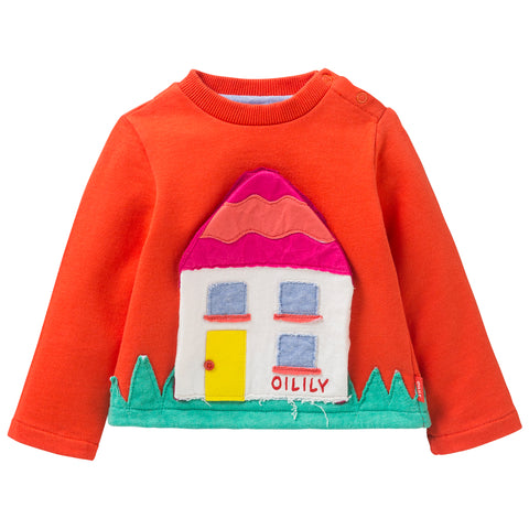 Oilily - Girls 'House' Sweatshirt-Jumper-Sweet Peas Kidswear