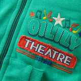 Oilily - Boys Green Heroic Cotton Hooded Zip-Up-Jumper-Sweet Peas Kidswear
