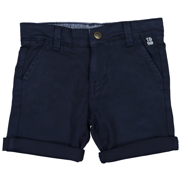 Week-End á La Mer - Boys Navy Chino Shorts-Shorts-Sweet Peas Kidswear