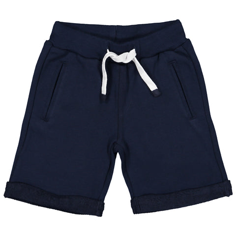 Week-End á La Mer - Boys Navy Jersey Shorts-Shorts-Sweet Peas Kidswear