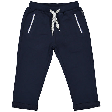 Week-End á La Mer - SS18 Boys Navy Jersey Trousers-Trousers-Sweet Peas Kidswear