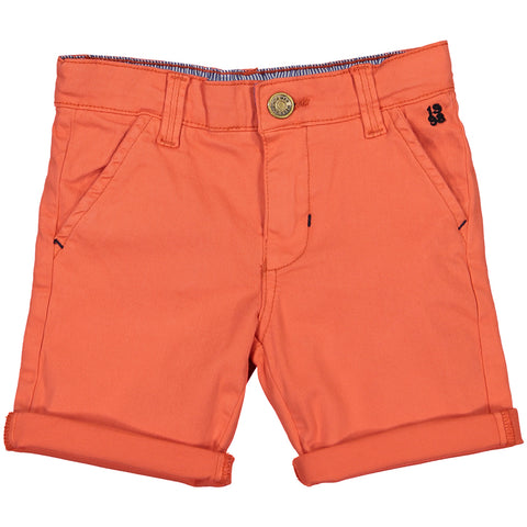 Week-End á La Mer - Boys Orange Chino Shorts-Shorts-Sweet Peas Kidswear