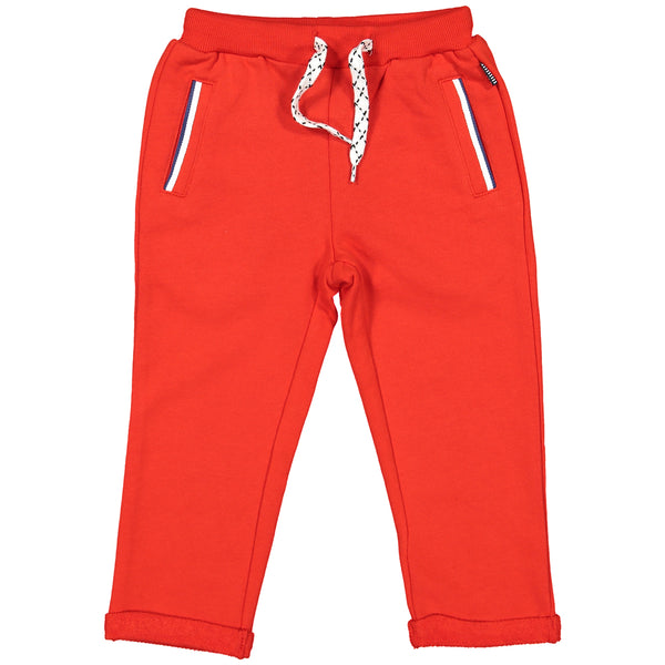Week-End á La Mer - SS18 Boys Orange Jersey Trousers-Trousers-Sweet Peas Kidswear