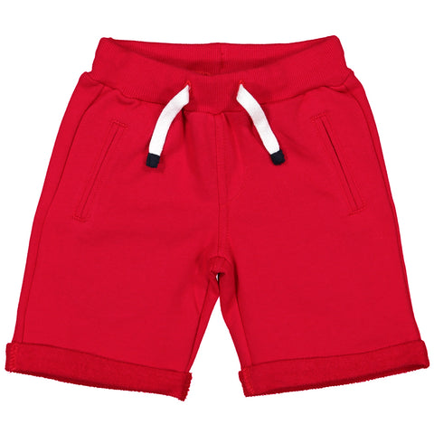 Week-End á La Mer - Boys Red Jersey Shorts-Shorts-Sweet Peas Kidswear