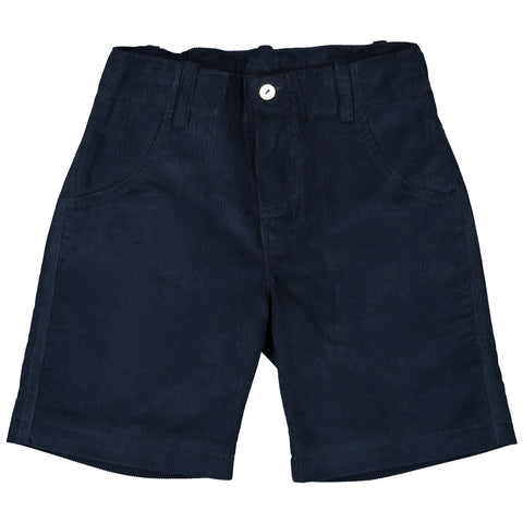 DOT - Boys Navy Cord 'Jose' Shorts-Shorts-Sweet Peas Kidswear