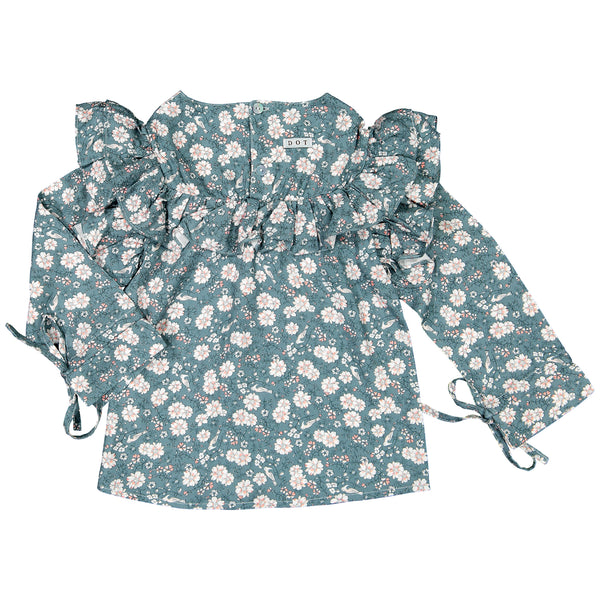DOT - Bird & Flower print 'Winter Carmo' Shirt-Shirt-Sweet Peas Kidswear