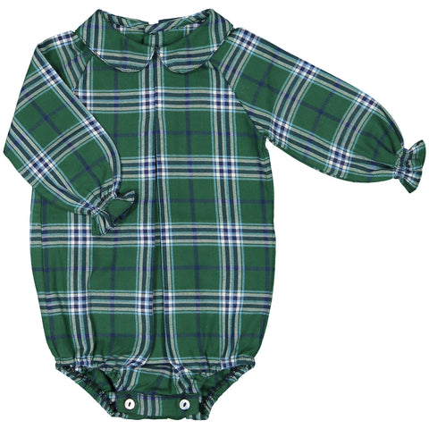 DOT - Green Plaid Baby Shirt-Shirt-Sweet Peas Kidswear
