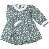 DOT - 'Jade' Dress with Bird & Floral Print-Dress-Sweet Peas Kidswear