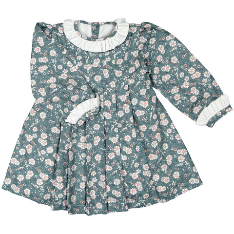 DOT -  'Jade' Dress with Bird & Floral Print