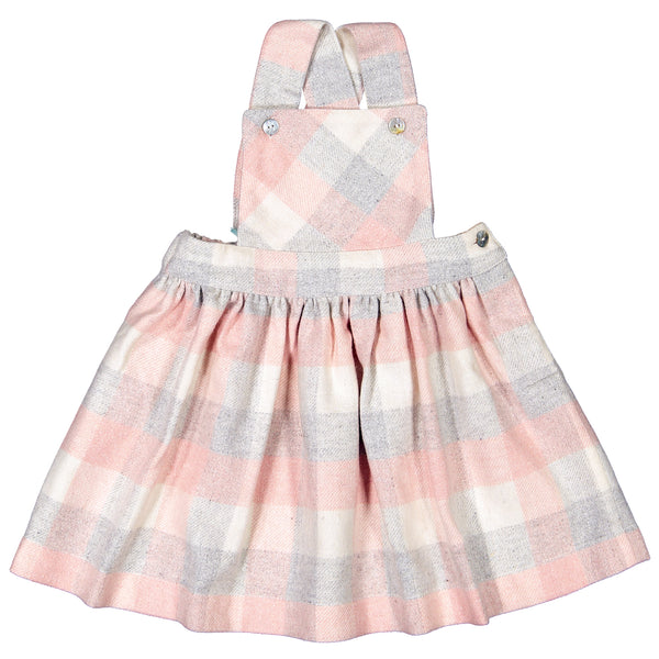 DOT - 'Winter Salome' Pink Check Dress-Dress-Sweet Peas Kidswear