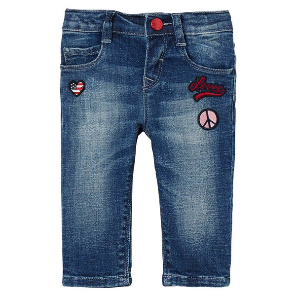 Levi's - Baby girls Blue Denim Jean-Jeans-Sweet Peas Kidswear