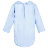 Babidu - Baby Blue Cotton Jersey Long Sleeved Bodyvest-Bodyvest-Sweet Peas Kidswear