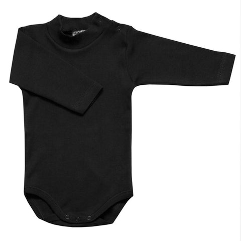 Babidu - Black Long Sleeved Roll Neck Bodyvest-Bodyvest-Sweet Peas Kidswear