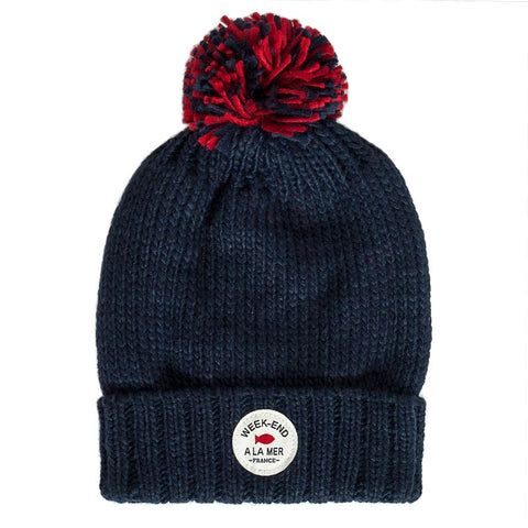 Week-End á La Mer - Navy Bobble Hat-Hat-Sweet Peas Kidswear