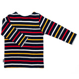 Week-End á La Mer - Boys Navy Multi Colour Striped Long Sleeved Top-Top-Sweet Peas Kidswear