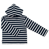 Week-End á La Mer - Boys Navy & White Striped Reversible Hoodie-Hoodie-Sweet Peas Kidswear