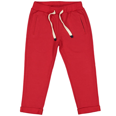 Week-End á La Mer - Boys Red Jersey Trousers-Trousers-Sweet Peas Kidswear