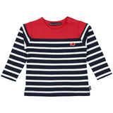 Week-End á La Mer - Boys Red, White & Navy Striped Top-Jumper-Sweet Peas Kidswear