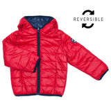 Week-End á La Mer - Reversible Hooded Puffer Coat-Coat-Sweet Peas Kidswear
