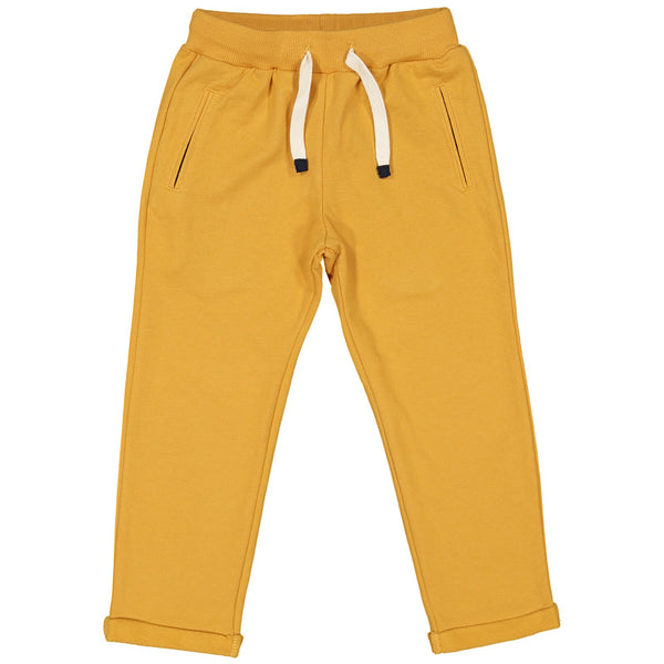 Week-End á La Mer - Boys Yellow Jersey Trousers-Trousers-Sweet Peas Kidswear