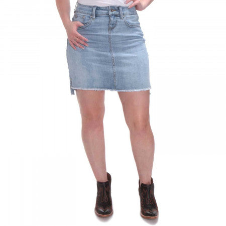 Grace in La Denim Skirt