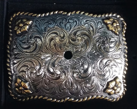 AndWest Gold and Silver Plated Motif Holder Buckle