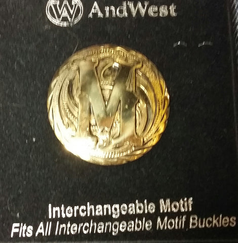 AndWest Gold Plated Interchangeable Motif M