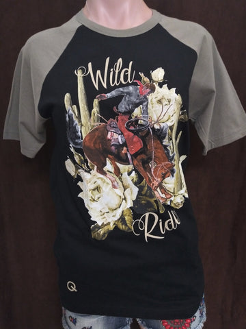 Rodeo Quincy Wild Ride Half Baseball Sleeve Tee
