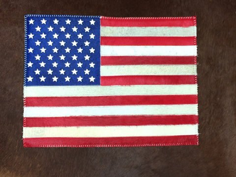 American Flag Cowhide Placemat