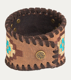 Noble Outfitters Aztec Leather Cuff