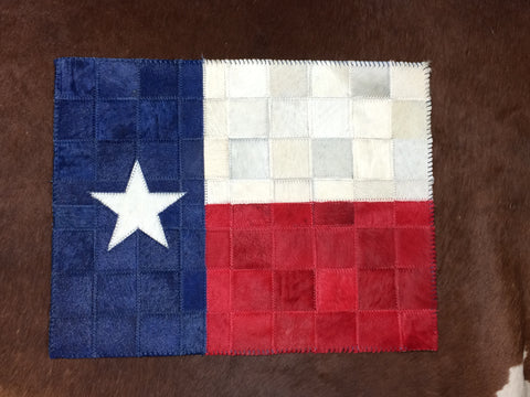 Texas Flag Cowhide Placemat