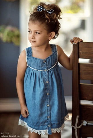BLU & BLUE TODDLER SELENA TENCEL LACE DRESS