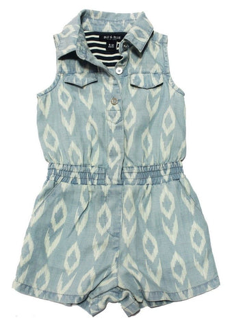 BLU & BLUE TODDLER IKAT TENCEL ROMPER