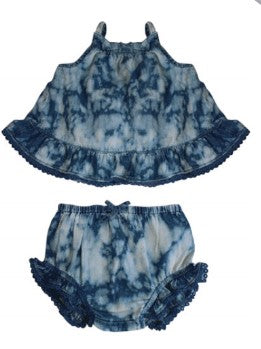BLU & BLUE INFANT LILLY MARBLE WASH SUN SUIT