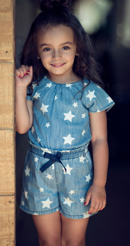 BLU & BLUE TODDLER LOLA STAR ROMPER