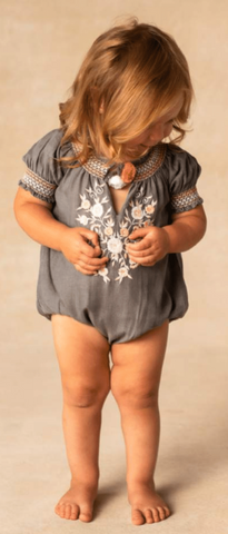 BLU & BLUE INFANT MORGAN GREY ROMPER