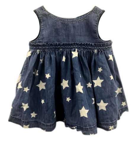 BLU & BLUE INFANT WHITE STAR DRESS