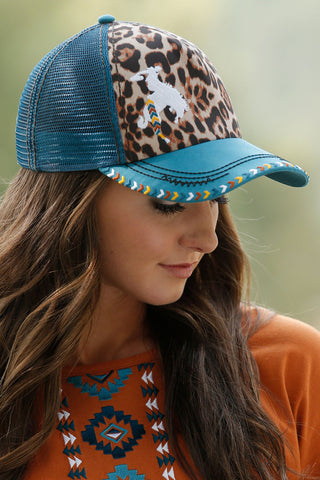 Cruel Girl WOMEN'S LEOPARD TRUCKER HAT