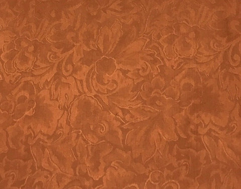 Jacquard Copper Silk Scarf